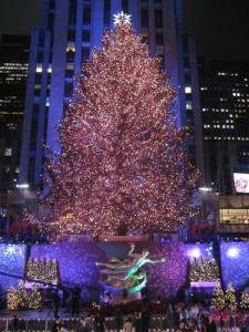 Rockefeller Center Christmas Tree in New York City