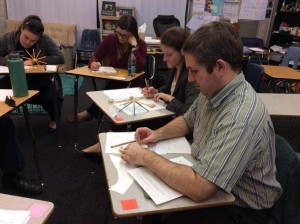 Teachers Learn New Techniques and Work with Hands On Activities to Show how To Teach Algebra to their Students